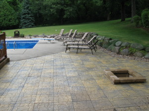 Landscaping Remodel - Pavers, barriers, plants, firepit, inground firepit, mulch, rock, retaining wall, extend pool patio, pavers