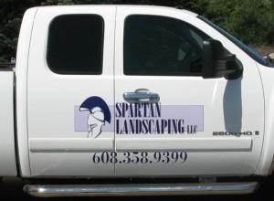 spartan landscaping llc work truck